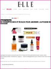 cosmetique bio Elle Belgique